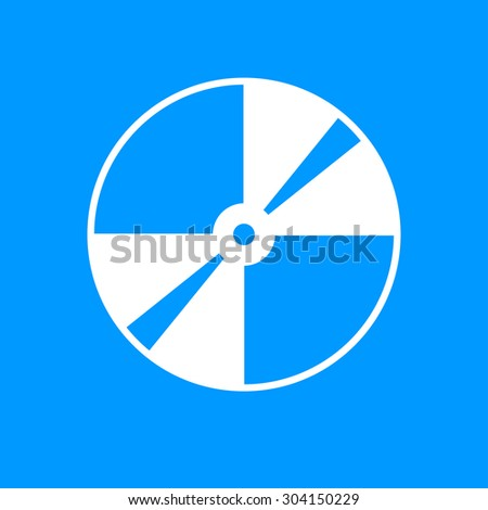 CD or DVD icon. Flat design style  - stock photo