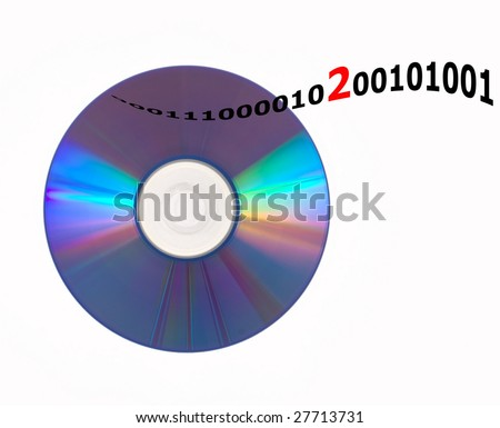 cd or dvd reading or writing error - stock photo