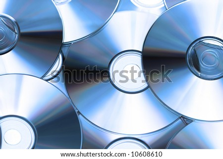 Cd or DVD romes for background - stock photo
