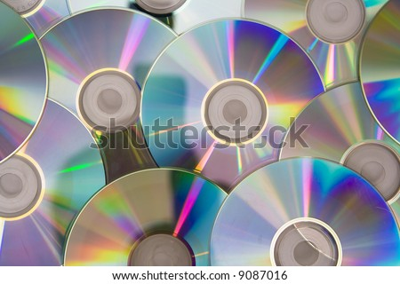 Cd or DVD romes on a white