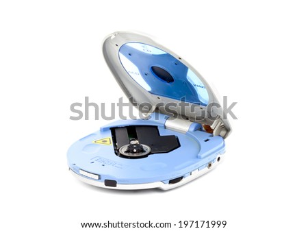 cd player  isolated on white background - stock photo