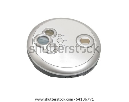 cd player on white background - stock photo