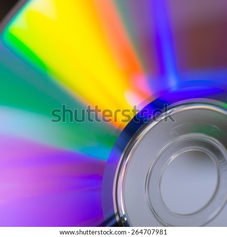cd rainbow - stock photo