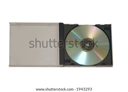CD-Rom and plastic case isolated