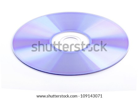 CD rom isolated on white background - stock photo