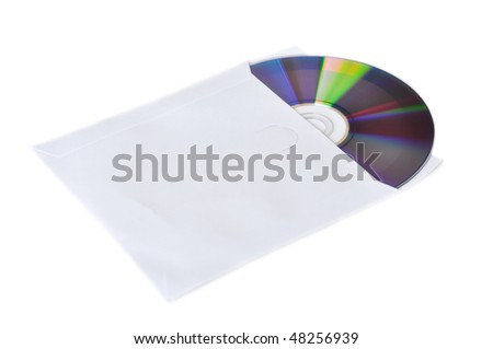 CD-ROm on a white background - stock photo