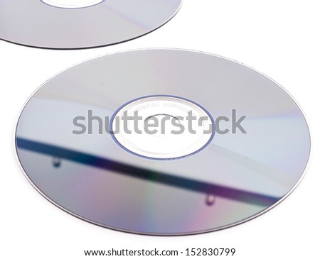 Cd-rom on white background - stock photo