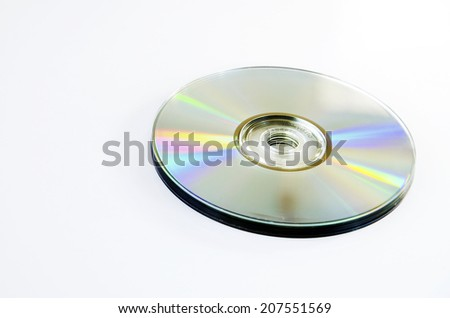 CD-ROM with a white background. - stock photo