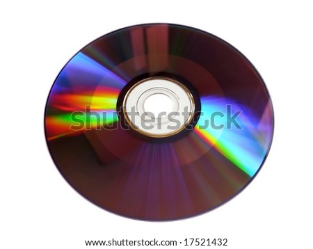 cd rom with colorful reflections