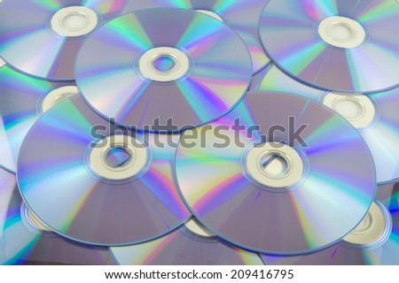 CD stack - stock photo