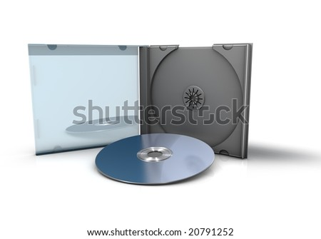 CD with Case - stock photo