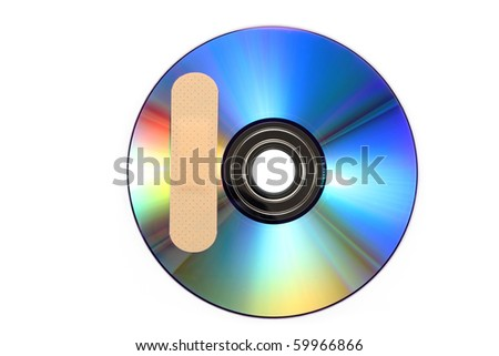 CD with software patch - stock photo
