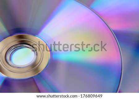 CDs background - stock photo