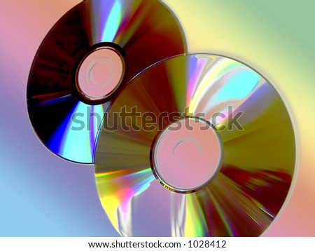 CDs composition - stock photo