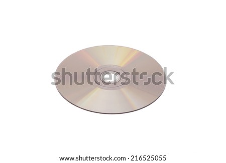 CDs or DVDs or Blu Ray disc - stock photo