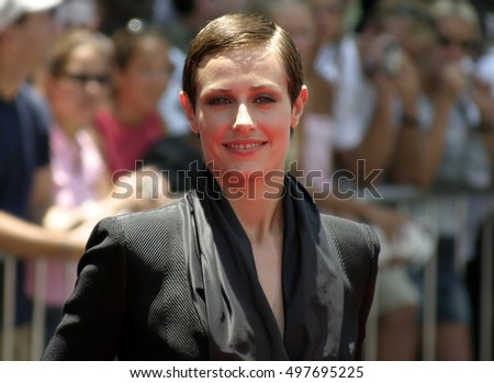 Cecile De France at the Los Angeles premiere of 'Around The World In 80 Days' held at the El Capitan Theater in Hollywood, USA on June 13, 2004.