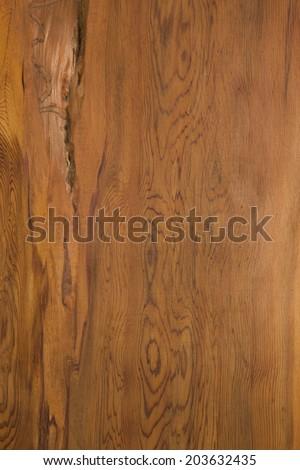 Cedar board was sawn plate of Yaku cedar, from giant cedar, which is produced in the World Heritage Yakushima. - stock photo