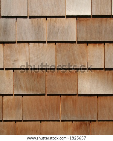 Cedar Shake Background - stock photo