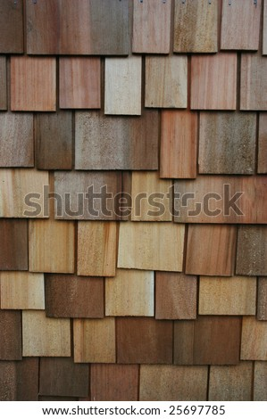 Cedar shake wall as a natural background