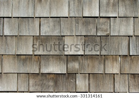 Cedar shake weathered background - stock photo
