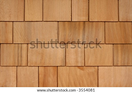Cedar Shakes / Shingles Background - stock photo