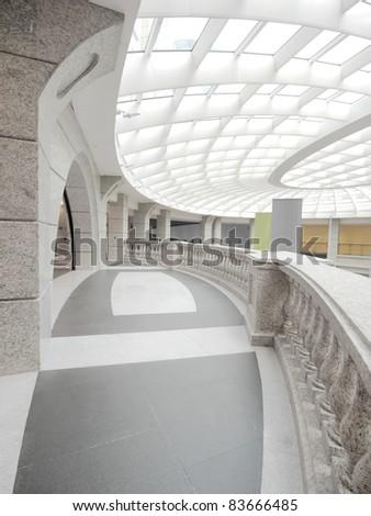 Ceiling and corridor - stock photo