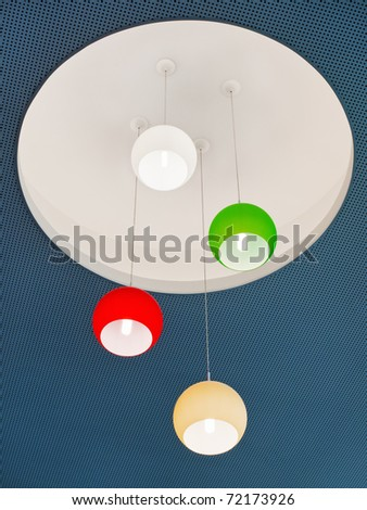 Ceiling design detail - lighting - stock photo