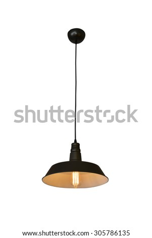 Ceiling lamp for interior decoration - stock photo