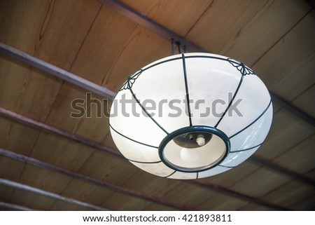 ceiling lamp Japan style - stock photo
