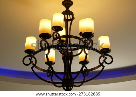 Ceiling lamps for room decoration - stock photo