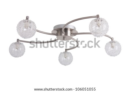 Ceiling light isolated on white - stock photo