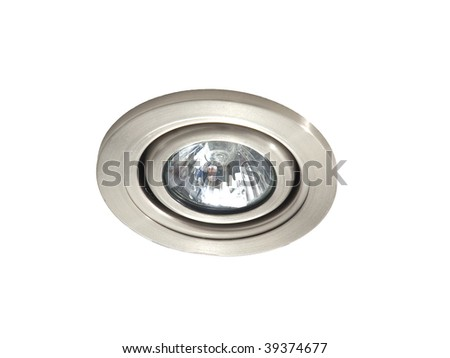 Ceiling light isolated on white background