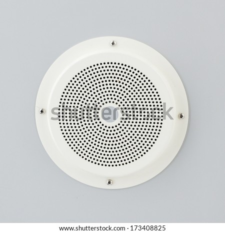 Ceiling speaker for public announcements - stock photo