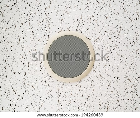 ceiling speaker on the wall - stock photo