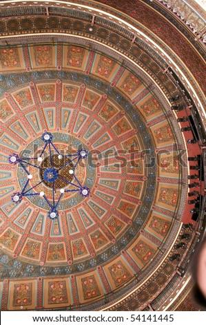 Ceiling, Teatro Juarez, Guanajuato, Mexico - stock photo