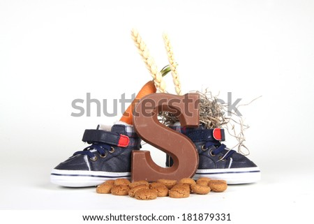 Celebrants of the Sinterklaas celebration are given their initials made out of chocolate.