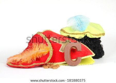 Celebrants of the Sinterklaas celebration are given their initials made out of chocolate. - stock photo