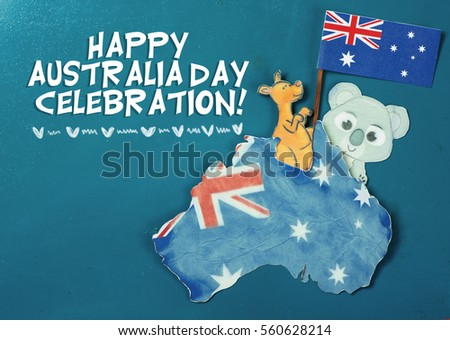 Celebrate australia day holiday on january stock photo royalty free celebrate australia day holiday on january 26 with a happy australia day message greeting written m4hsunfo