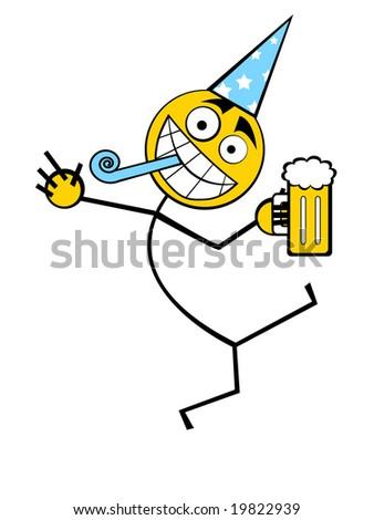 Celebrating Guy - stock photo
