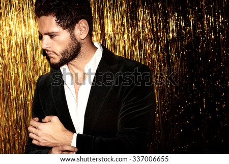 Celebrating man - stock photo
