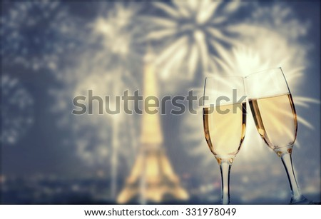 Celebrating New year in Paris