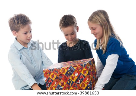 Celebrating Sinterklaas in the Netherlands also means getting presents. - stock photo