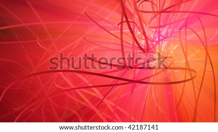 Celebration abstract 3d colored light ribbon background