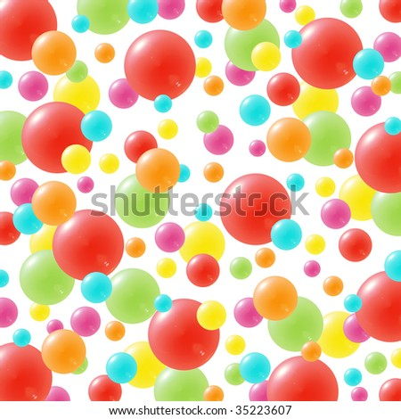 Celebration background with lots of festive balloons in green, red, yellow, pink, orange and blue - stock photo