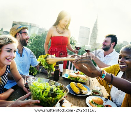 Celebration Friendship Rooftop Party Concept - stock photo
