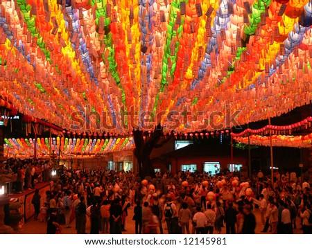 Celebration of buddha birthday, Seoul, South Korea - stock photo