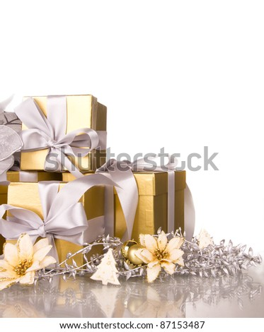 Celebration still life, isolated on white background