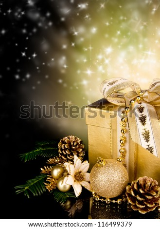 Celebration theme with christmas gift - stock photo