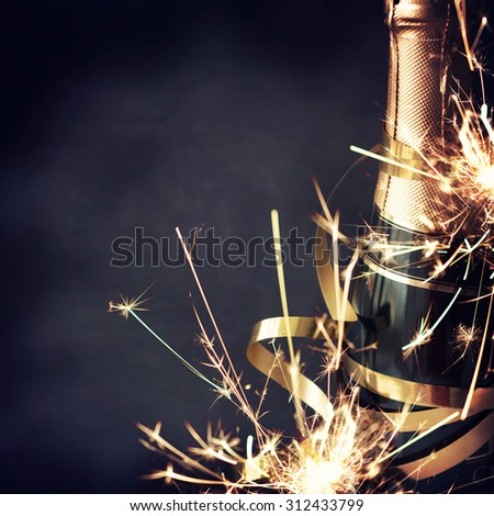 Celebration with Champagne - stock photo