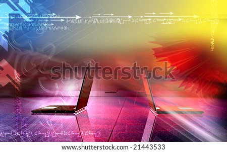 Celebration with colour background